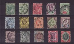 1902-10 KEVII Basic Set of 15 to 1s Used Stamps (81859)