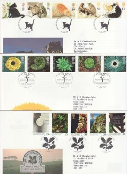 1995 Bulk Buy x9 FDC From 1995 Special Pmks (81892)