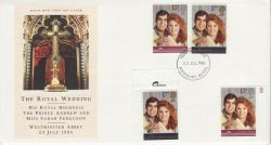 1986-07-22 Royal Wedding Stamps + Mint Aylesbury FDC (81996)