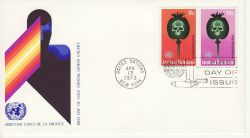 1973-04-13 United Nations Stop Drug Abuse FDC (82021)