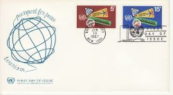 1967-06-19 United Nations Tourism Stamps FDC (82024)
