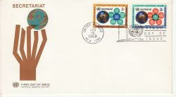 1968-01-16 United Nations Secretariat Stamps FDC (82026)