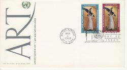 1968-03-01 United Nations Art Stamps FDC (82028)