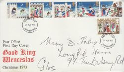 1973-11-28 Christmas Stamps 28th and 29th Pmk FDC (82043)