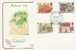 1986-06-17 Medieval Life Stamps Winchester FDC (82059)