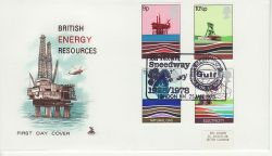 1978-01-25 Energy Stamps Gulf Oil London FDC (82081)
