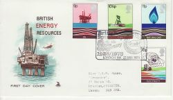 1978-01-25 Energy Stamps Gulf Oil London FDC (82082)