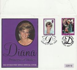 1998-06-19 IOM Princess Diana Doubled Althorp FDC (82161)