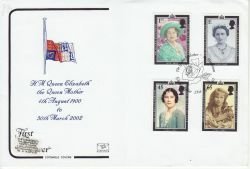 2002-04-25 Queen Mother Stamps Glamis FDC (82165)