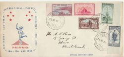 1950-11-20 New Zealand Stamps Christchurch FDC (82173)