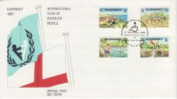 1981-11-17 Guernsey Year of Disabled FDC (82205)