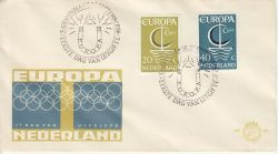 1966-09-26 Netherlands Europa Stamps FDC (82266)