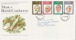 1980-09-10 British Conductors Stamps Battersea FDC (82278)