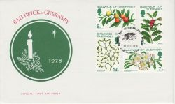 1978-10-31 Guernsey Christmas Stamps FDC (82287)