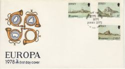 1978-05-01 Jersey Europa Castle Stamps FDC (82288)