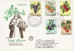 1973-07-11 San Marino Fruits Stamps FDC (82294)