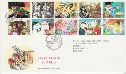 1993-02-02 Greetings Stamps Greetland FDC (82428)