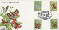 1981-05-13 Butterflies Stamps Quorn FDC (82477)