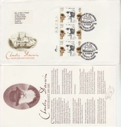 1982-02-10 Charles Darwin Cylinder Stamps Plymouth FDC (82946)