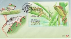 2000-06-23 South Africa Frogs Stamps M/S FDC (82976)