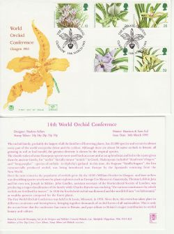 1993-03-16 Orchids Stamps Glasgow FDC (83008)