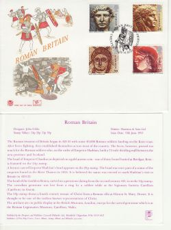 1993-06-15 Roman Britain Stamps Chester Cheshire FDC (83010)