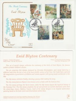 1997-09-09 Enid Blyton Stamps Child's Way NW11 FDC (83015)