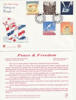 1995-05-02 Peace and Freedom Stamps Whitehall SW1 FDC (83054)