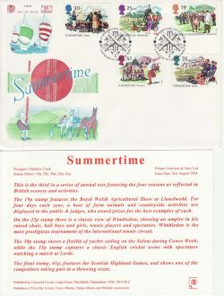 1994-08-02 Summertime Stamps Lords London NW8 FDC (83057)