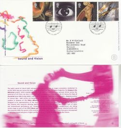 2000-12-05 Sound and Vision Stamps Cardiff FDC (83185)