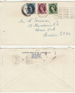 1954-02-08 Wilding Stamps Wolverhampton cds + wavy FDC (83227)