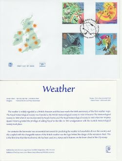 2001-03-13 Weather Stamps Snowshill FDC (83232)
