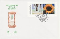 2000-09-05 Retail Booklet Stamps St Austell FDC (83238)