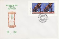 2001-09-21 Retail Booklet Stamps Windsor FDC (83239)