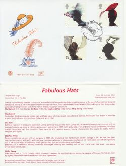 2001-06-19 Fabulous Hats Stamps Ascot FDC (83242)