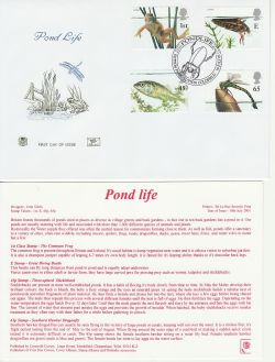 2001-07-10 Pond Life Stamps Sutton Park FDC (83243)