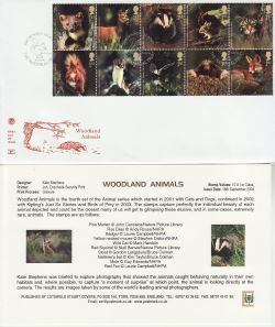2004-09-16 Woodland Animals Stamps Brownsea Island FDC (83258)