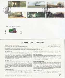 2004-01-13 Classic Locomotives Bridgnorth FDC (83259)