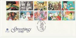 1993-02-02 Greetings Stamps Oxford FDC (83332)