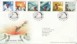 2004-11-02 Christmas Stamps T/House FDC (83343)