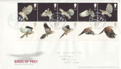 2003-01-14 Birds of Prey Stamps Hawkshead FDC (83377)