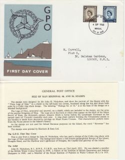 1968-09-04 IOM Definitive Stamps Douglas FDC (83492)