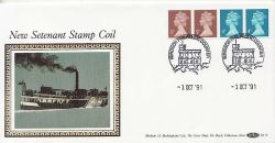 1991-10-01 Definitive Coil Stamps Windsor FDC (83575)