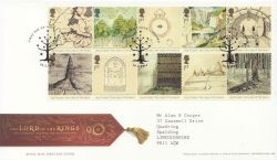 2004-02-26 Lord of the Rings Stamps Oxford FDC (83772)