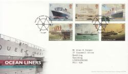 2004-04-13 Ocean Liners Stamps Southampton FDC (83776)