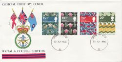 1982-07-23 British Textiles Stamps Forces PO 5 cds FDC (83801)