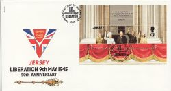 1995-05-09 Jersey Liberation M/Sheet FDC (83806)
