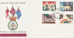 1981-03-25 Disabled Year Stamps Forces PO 50 cds FDC (83822)