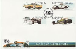 1988-02-10 IOM Motor Sport Stamps FDC (83841)
