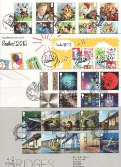 2015 Bulk Buy x17 First Day Covers with T/House Pmks (83857)